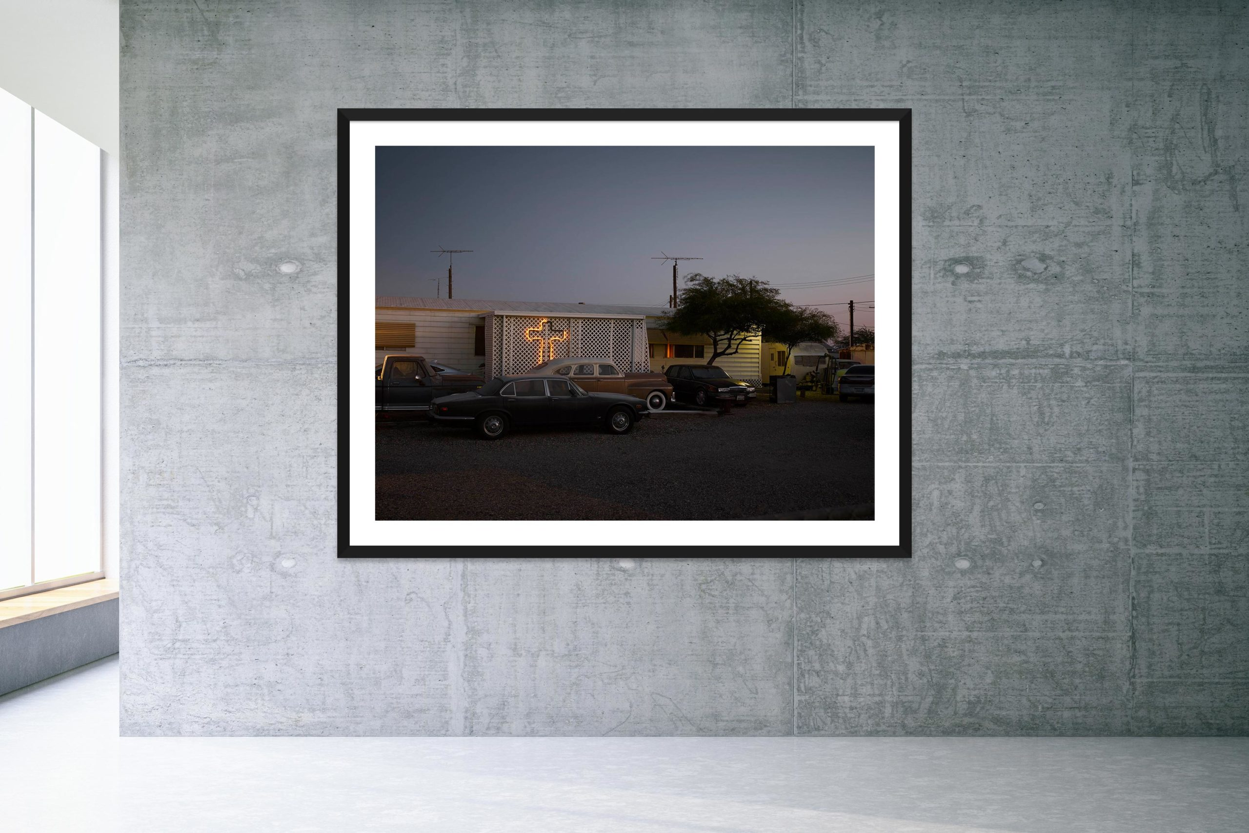 Esclavo Y Amo - Black Frame - Welcome To Bombay Beach Collection - Fine Art Photography by Toby Dixon
