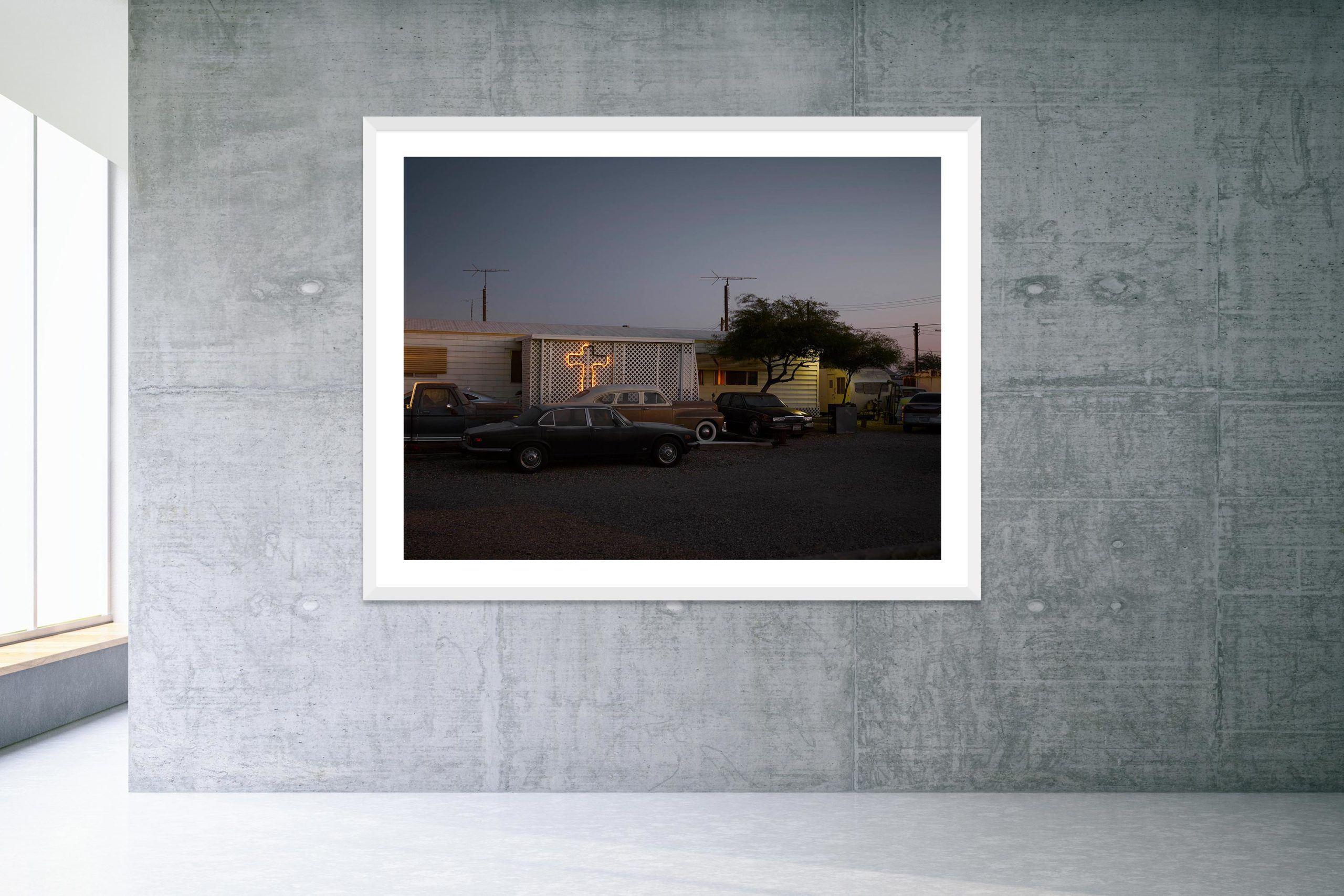 Esclavo Y Amo - White Frame - Welcome To Bombay Beach Collection - Fine Art Photography by Toby Dixon