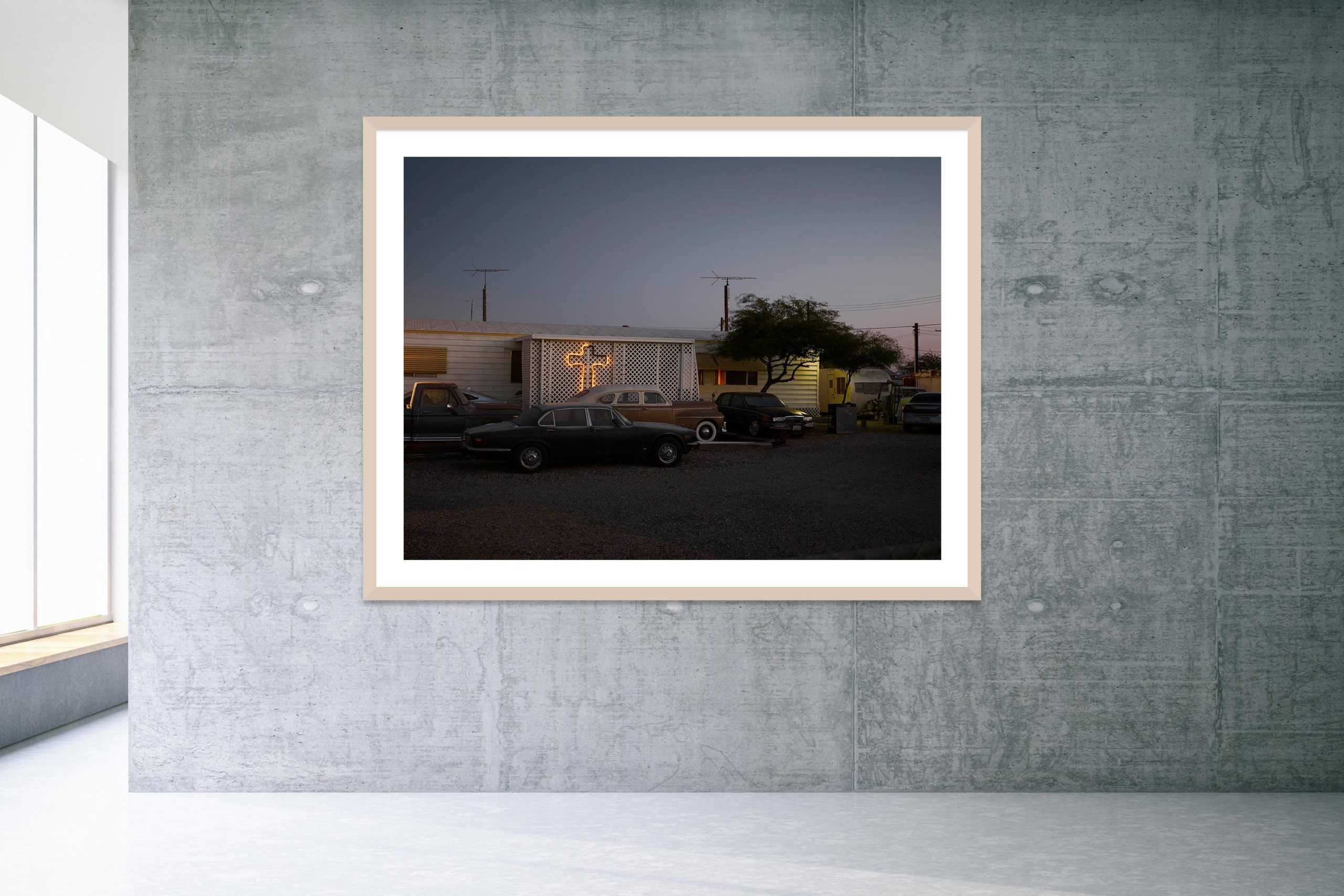 Esclavo Y Amo - Timber Frame - Welcome To Bombay Beach Collection - Fine Art Photography by Toby Dixon