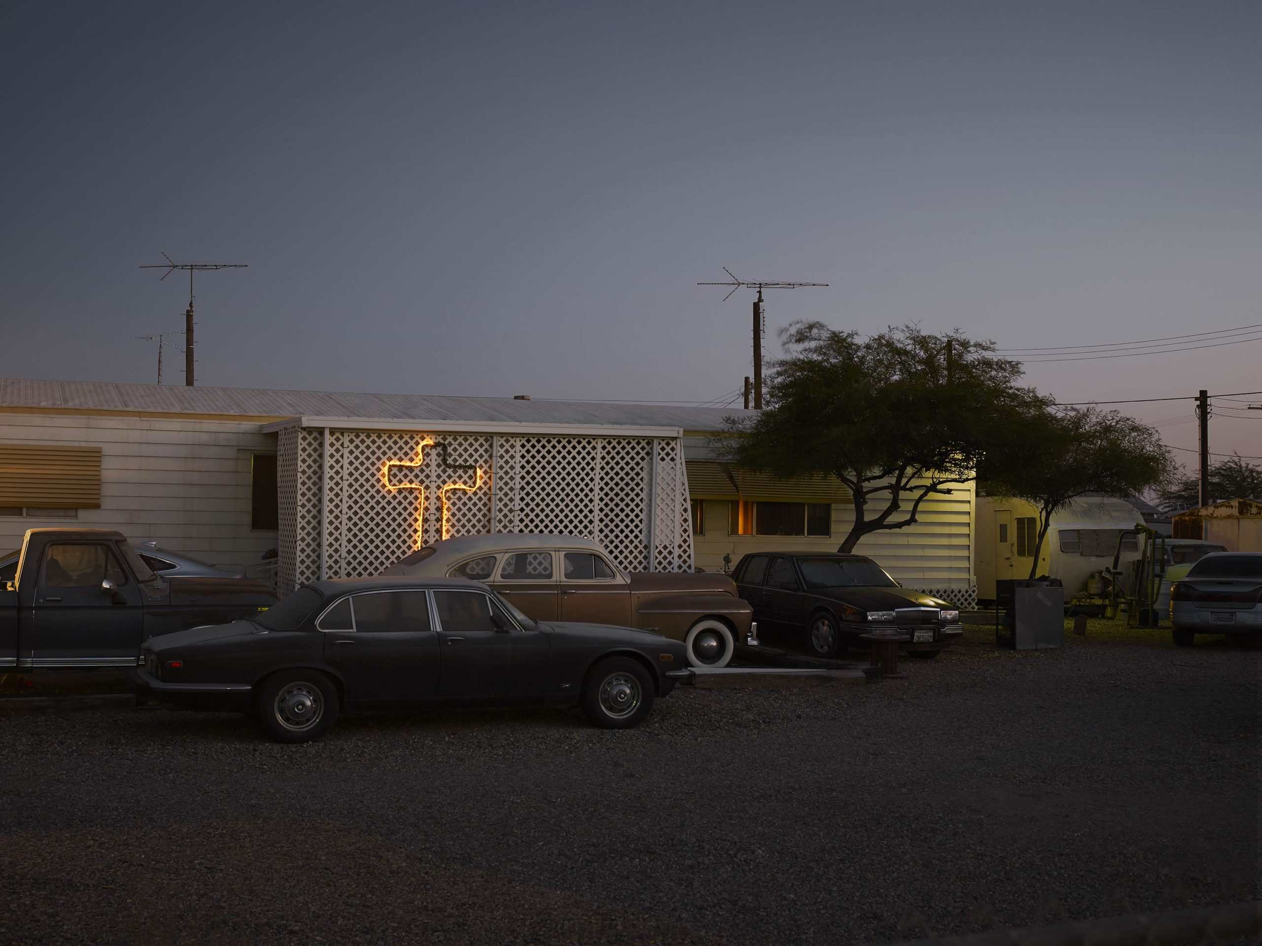 Esclavo Y Amo - Welcome To Bombay Beach Collection - Fine Art Photography by Toby Dixon