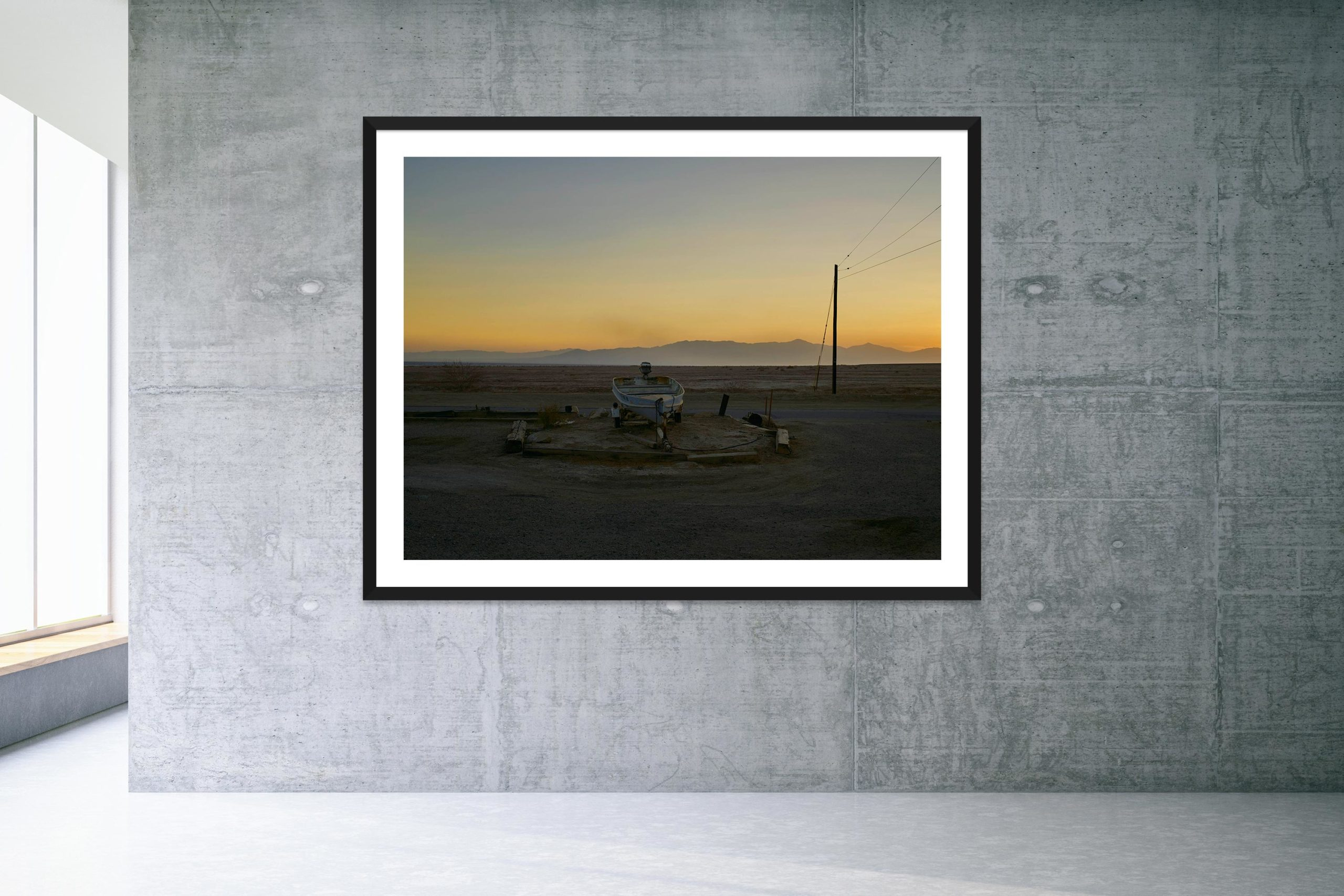 Sunflower River Blues - Black Frame - Welcome To Bombay Beach Collection - Fine Art Photography by Toby Dixon