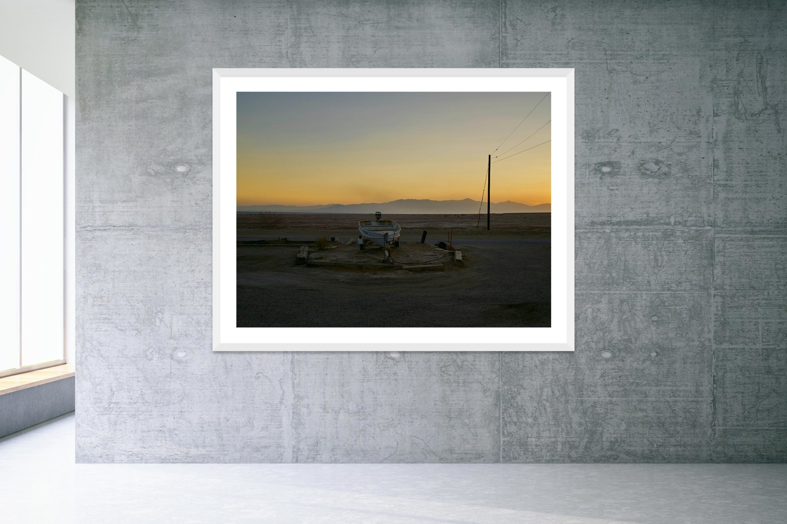 Sunflower River Blues - White Frame - Welcome To Bombay Beach Collection - Fine Art Photography by Toby Dixon