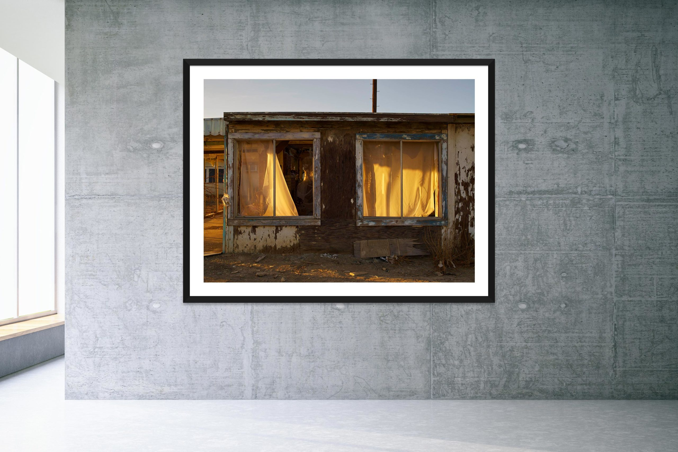 The Dream House - Black Frame - Welcome To Bombay Beach Collection - Fine Art Photography by Toby Dixon