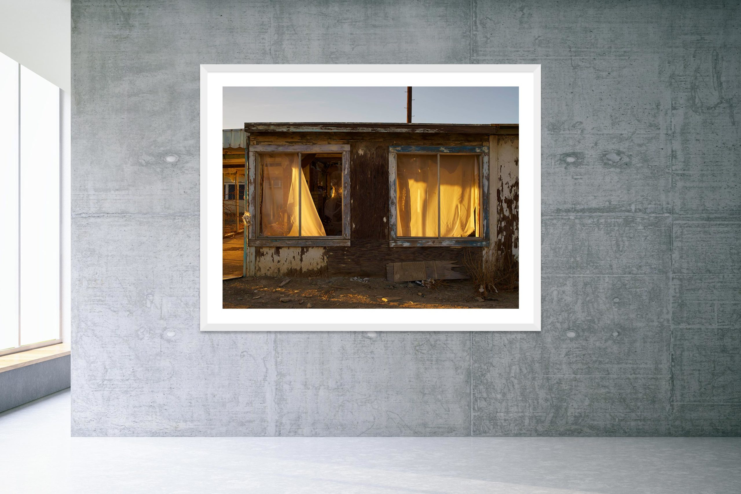 The Dream House - White Frame - Welcome To Bombay Beach Collection - Fine Art Photography by Toby Dixon