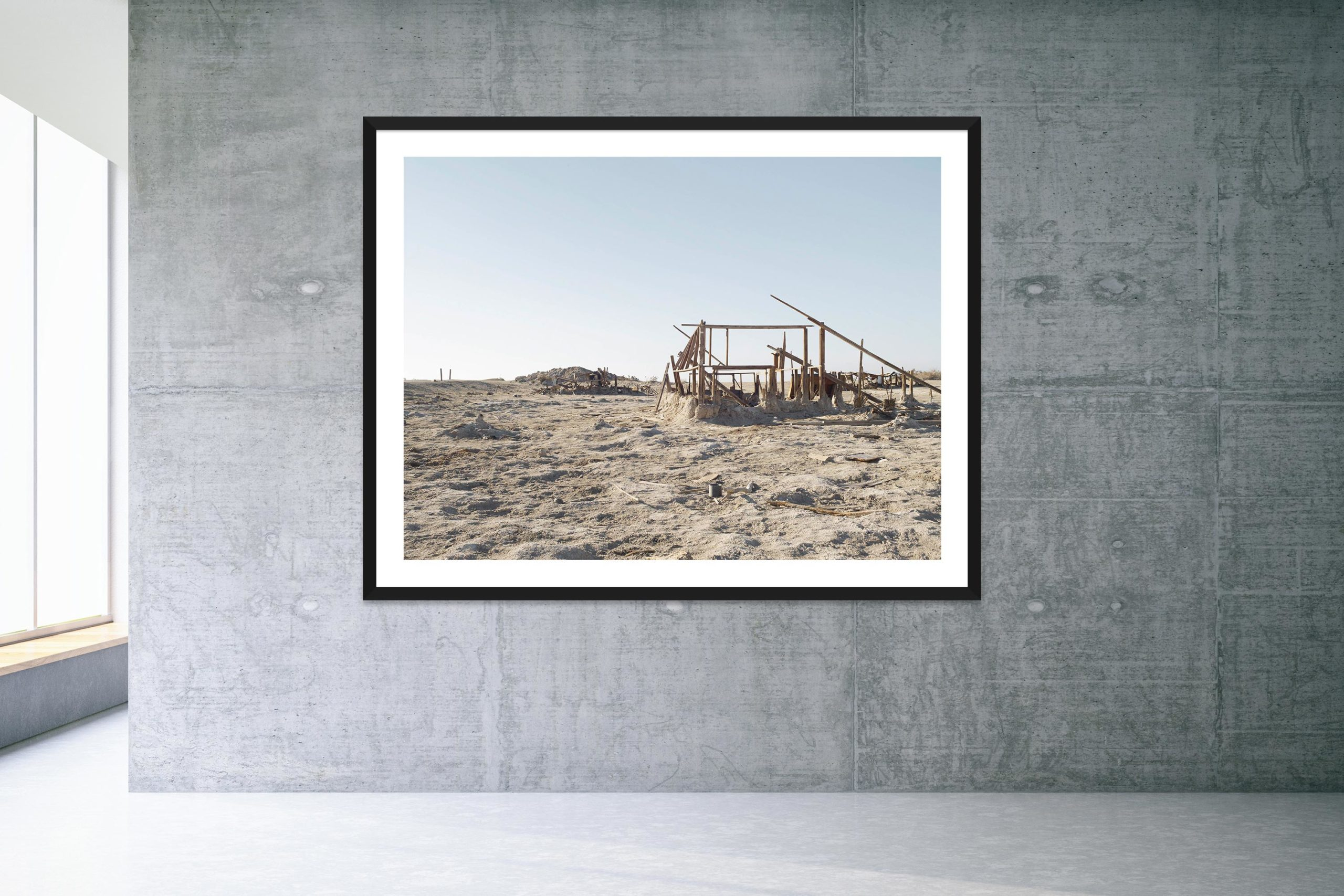 Bleach - Black Frame - Welcome To Bombay Beach Collection - Fine Art Photography by Toby Dixon
