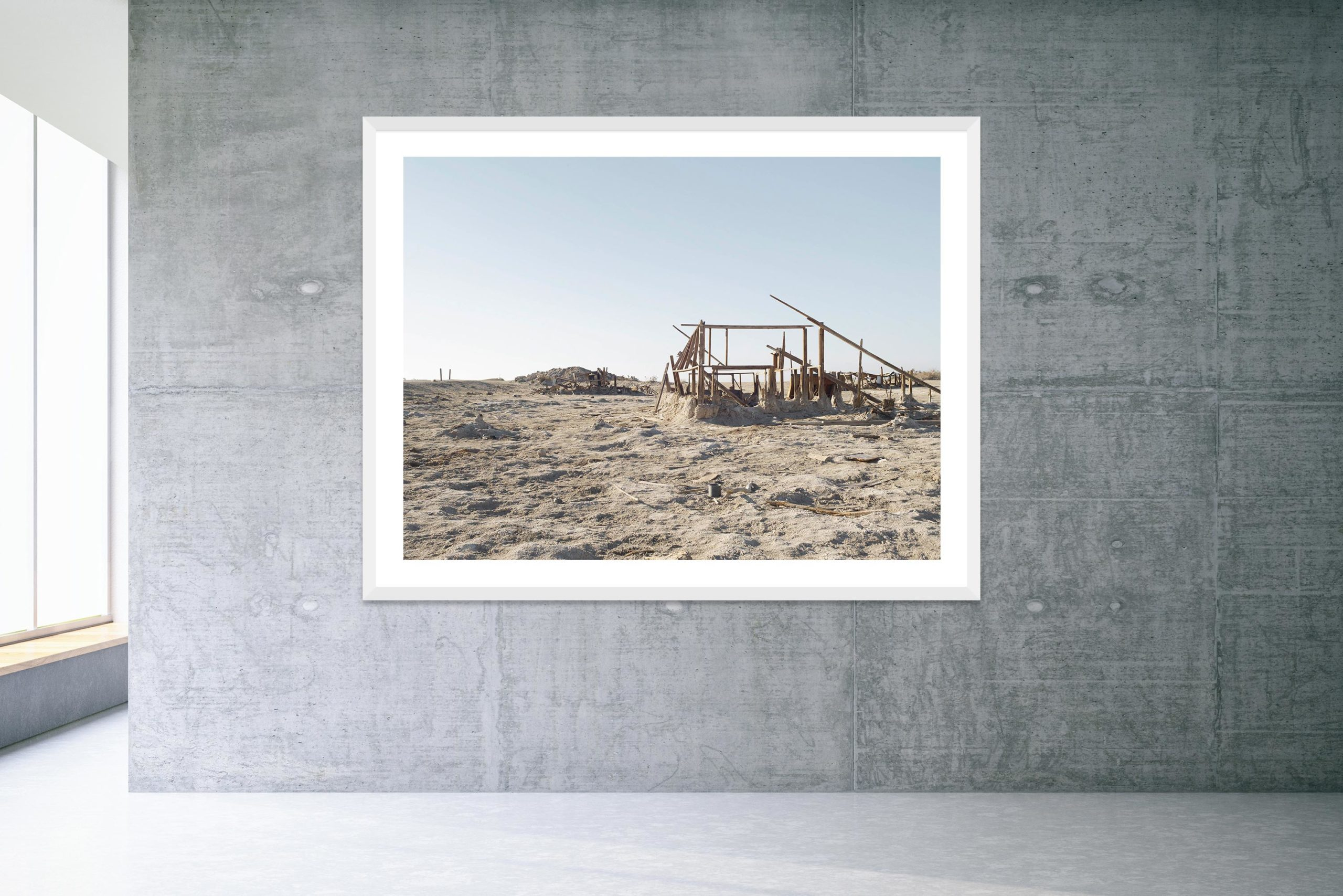 Bleach - White Frame - Welcome To Bombay Beach Collection - Fine Art Photography by Toby Dixon