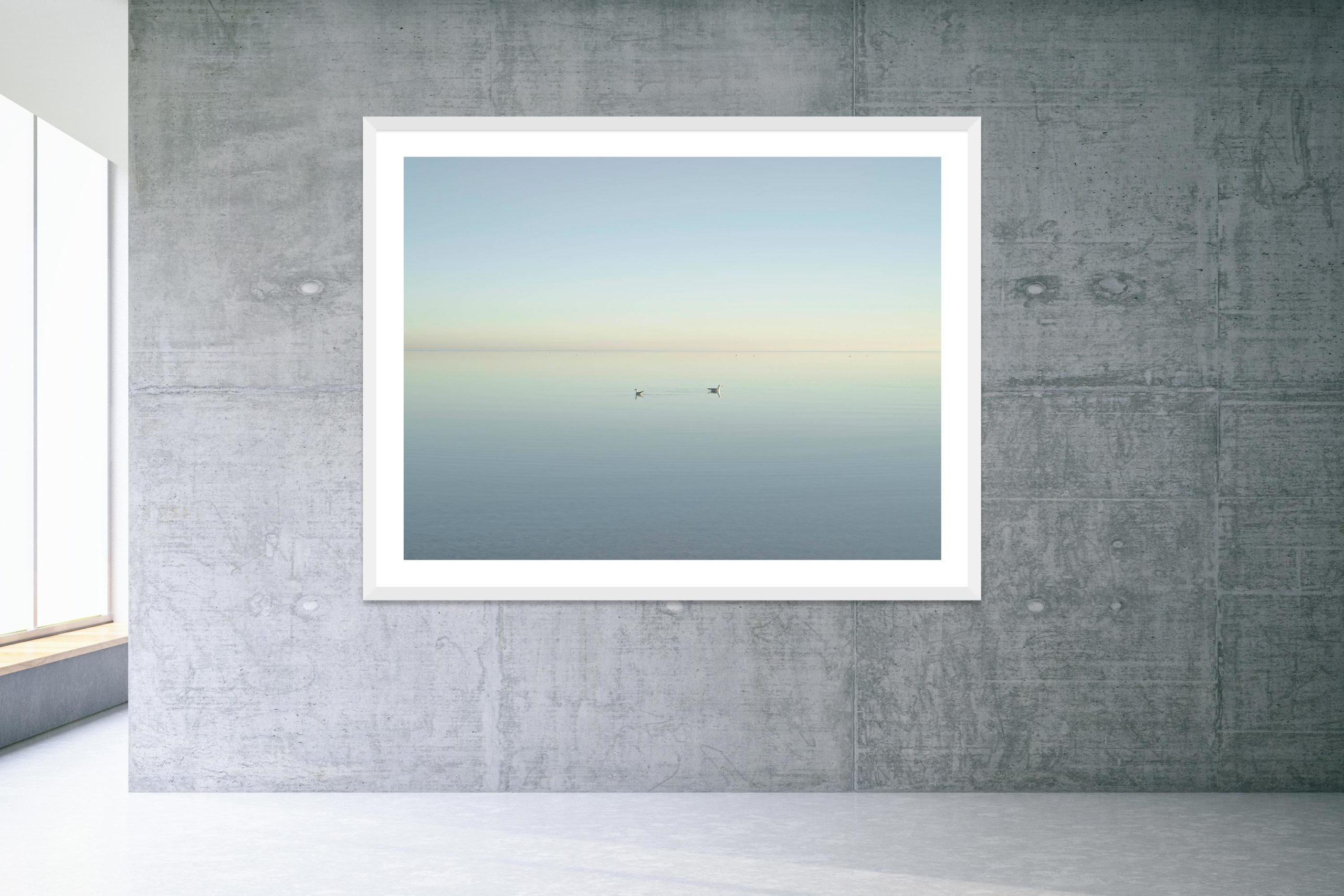 Too Busy Saying Goodbye - White Frame - Welcome To Bombay Beach Collection - Fine Art Photography by Toby Dixon