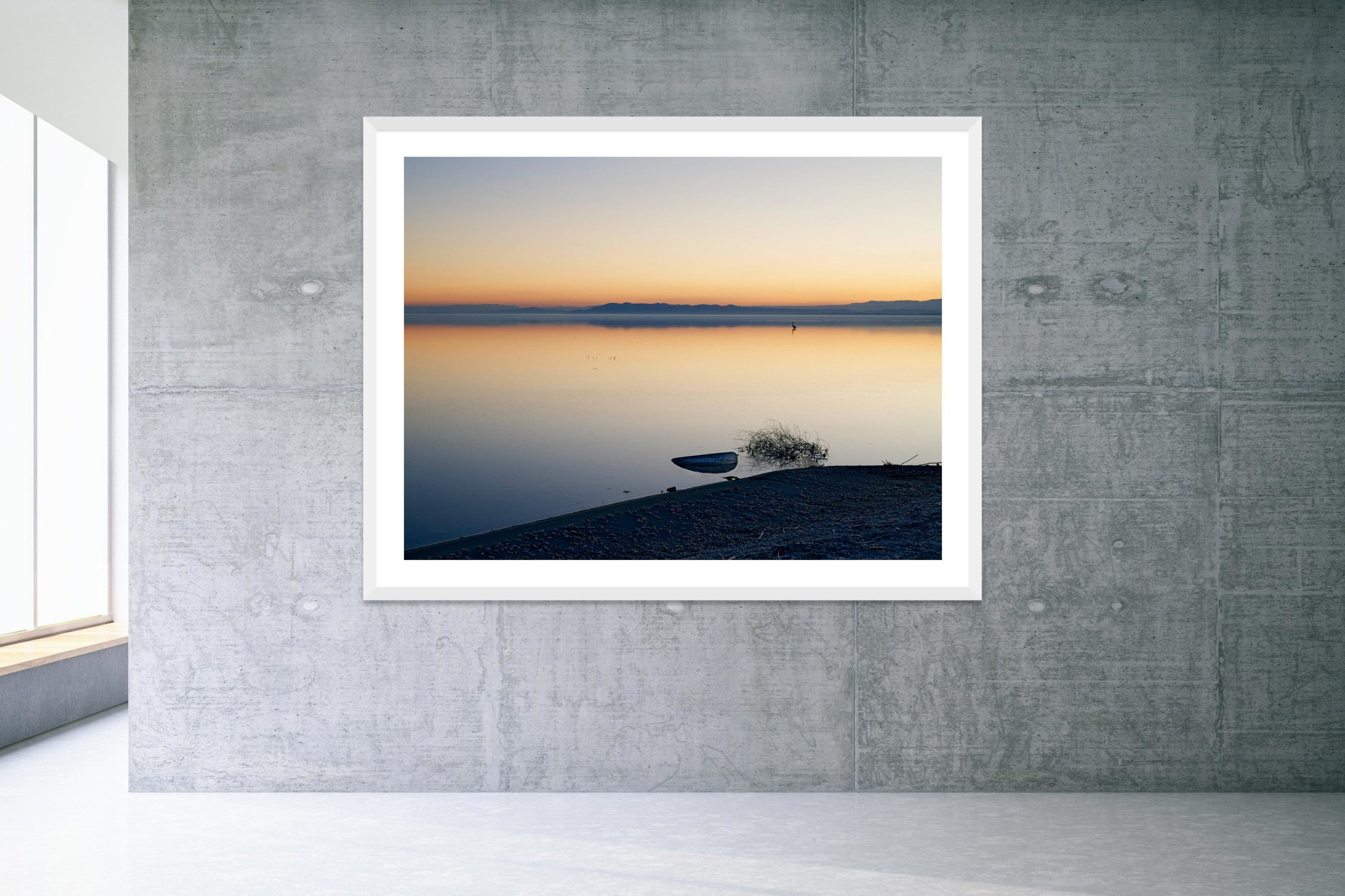 Good Year - White Frame - Welcome To Bombay Beach Collection - Fine Art Photography by Toby Dixon