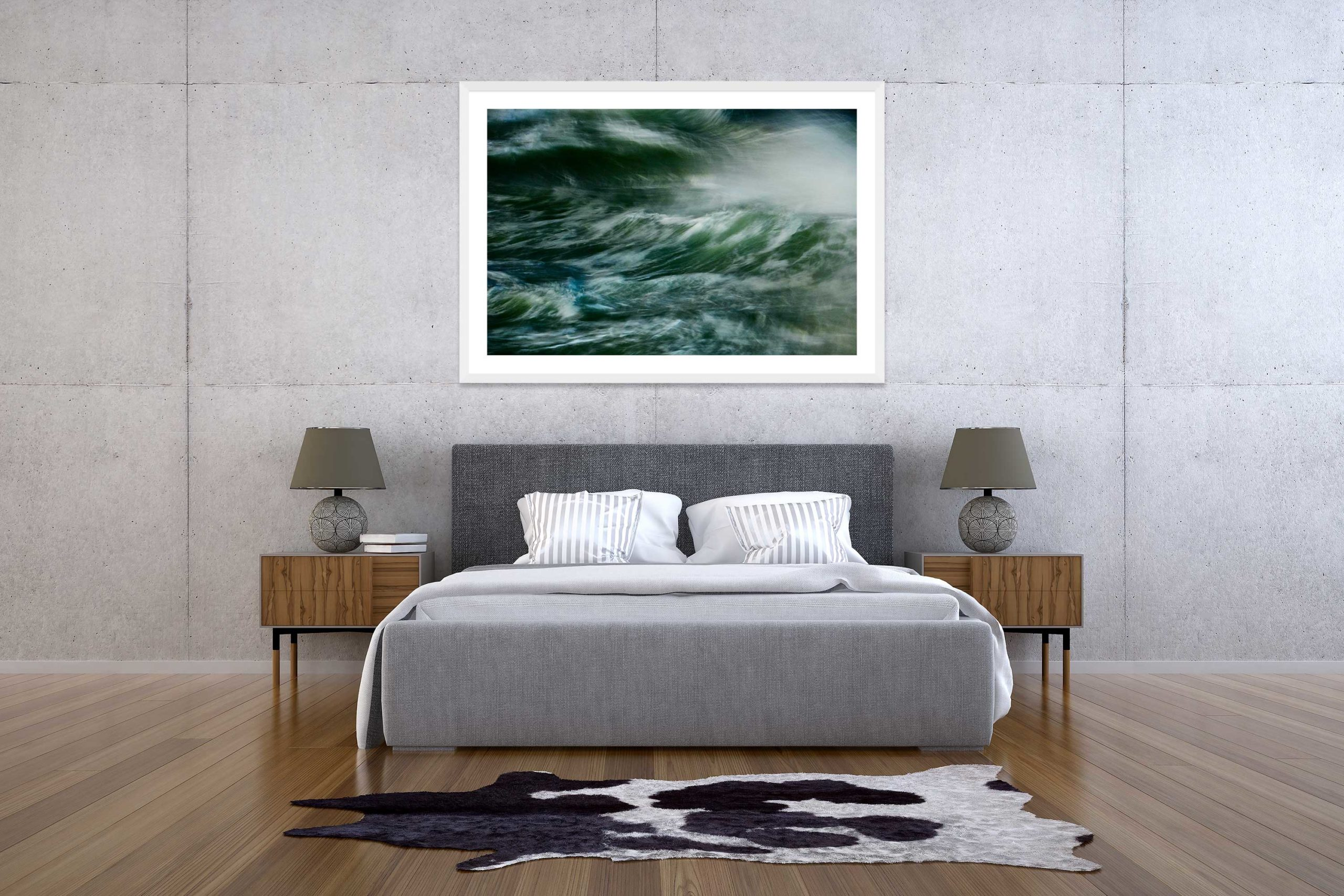 The Storm 1 - White Frame - The Storm Collection - Fine Art Photography by Toby Dixon