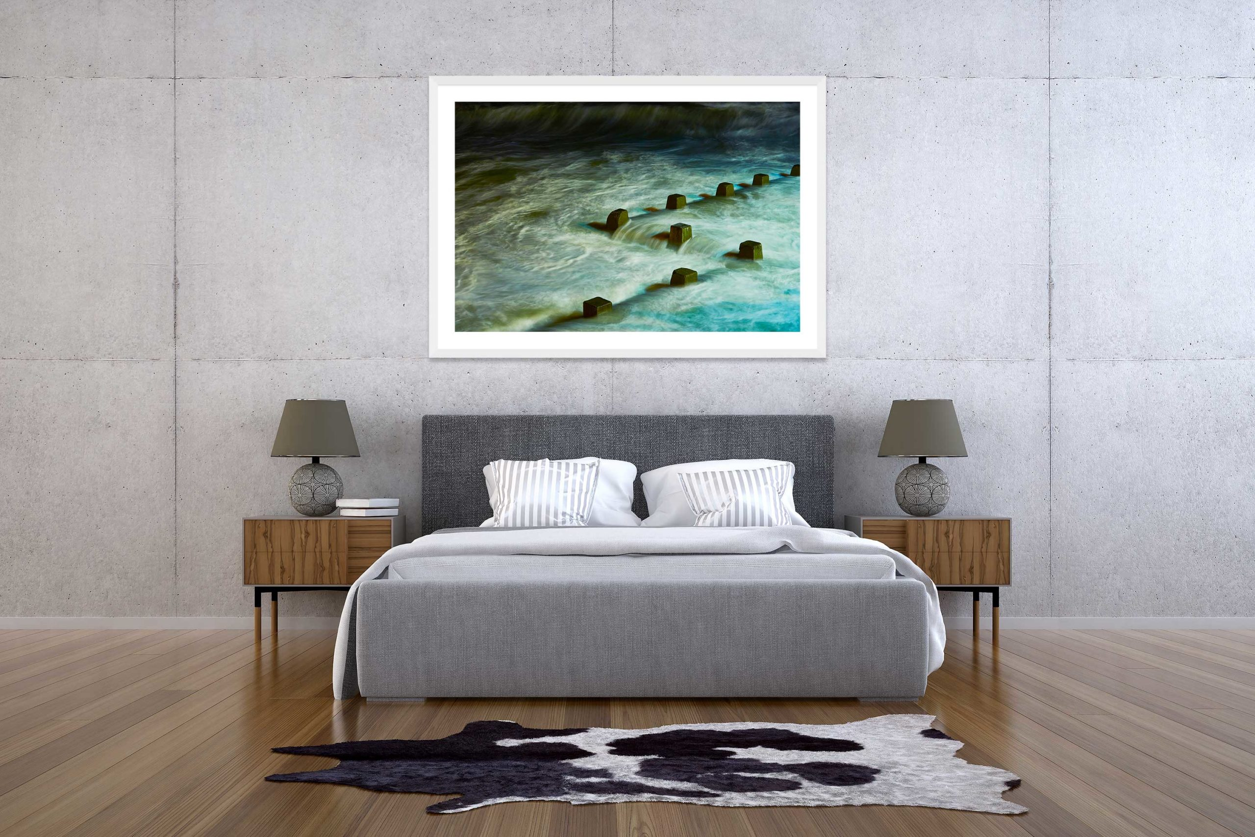 The Storm 2 - White Frame - The Storm Collection - Fine Art Photography by Toby Dixon