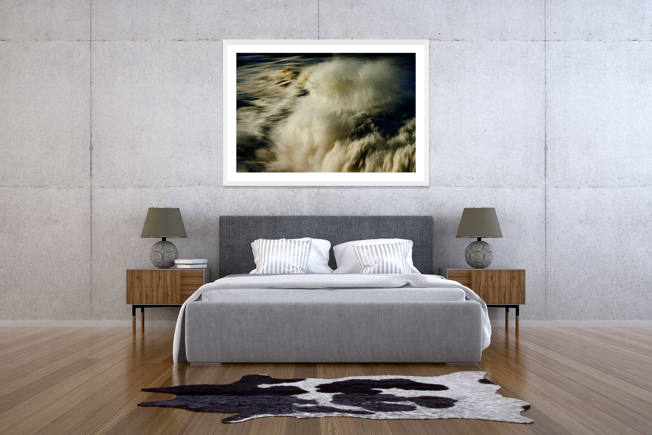 The Storm 3 - White Frame - The Storm Collection - Fine Art Photography by Toby Dixon
