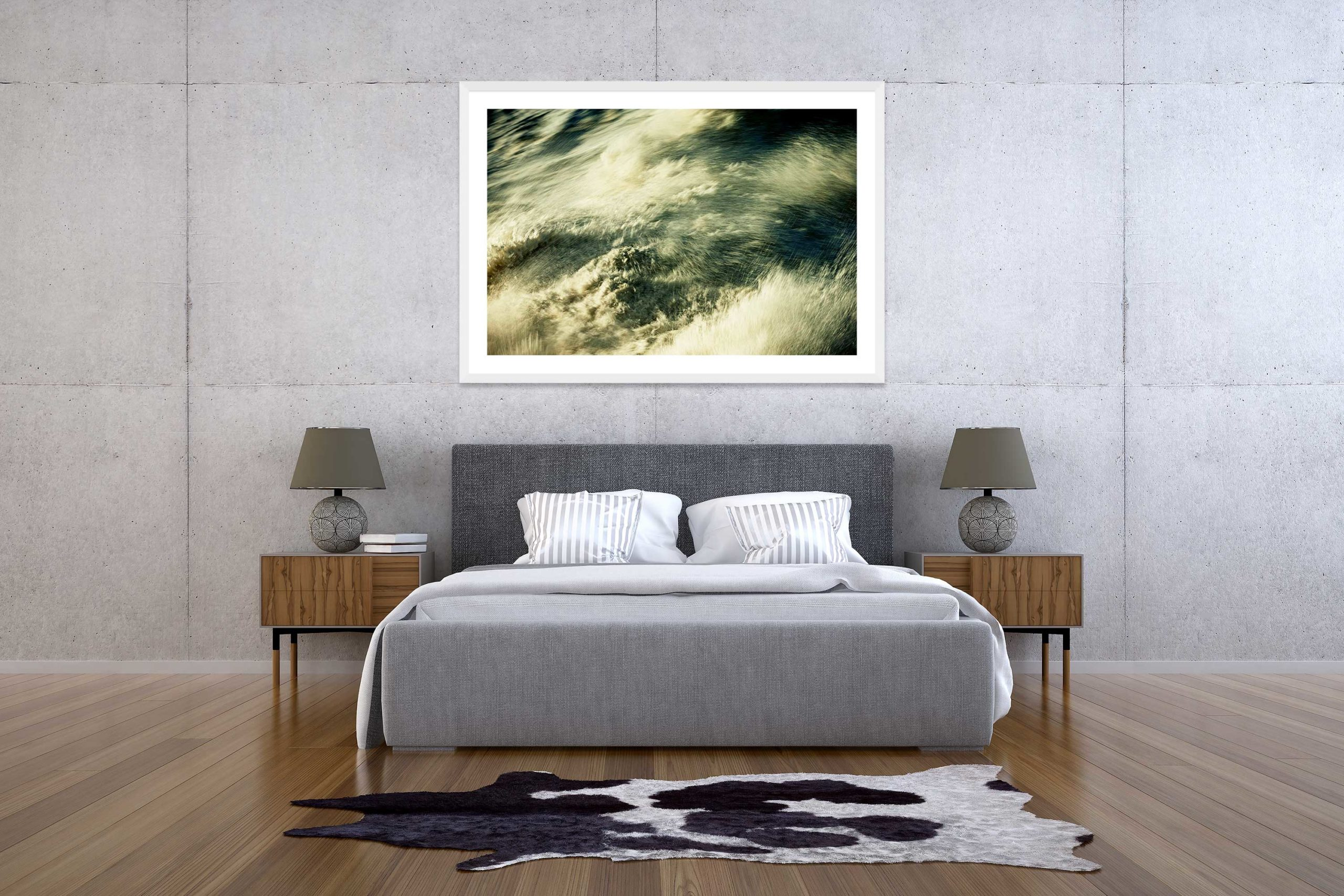 The Storm 4 - White Frame - The Storm Collection - Fine Art Photography by Toby Dixon
