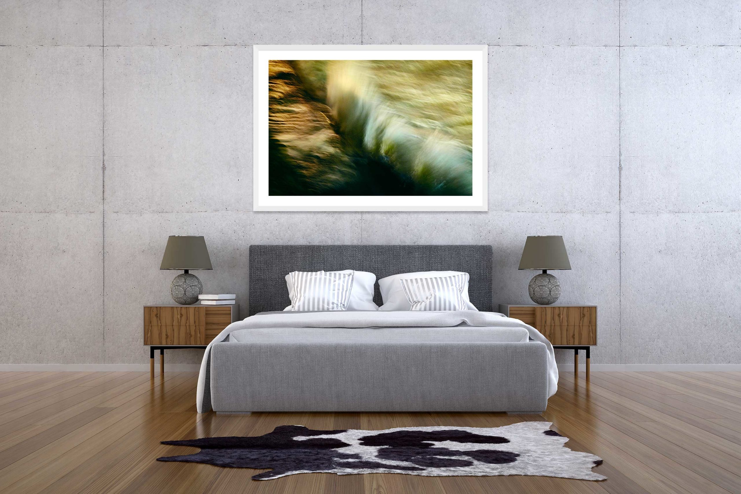 The Storm 5 - White Frame - The Storm Collection - Fine Art Photography by Toby Dixon