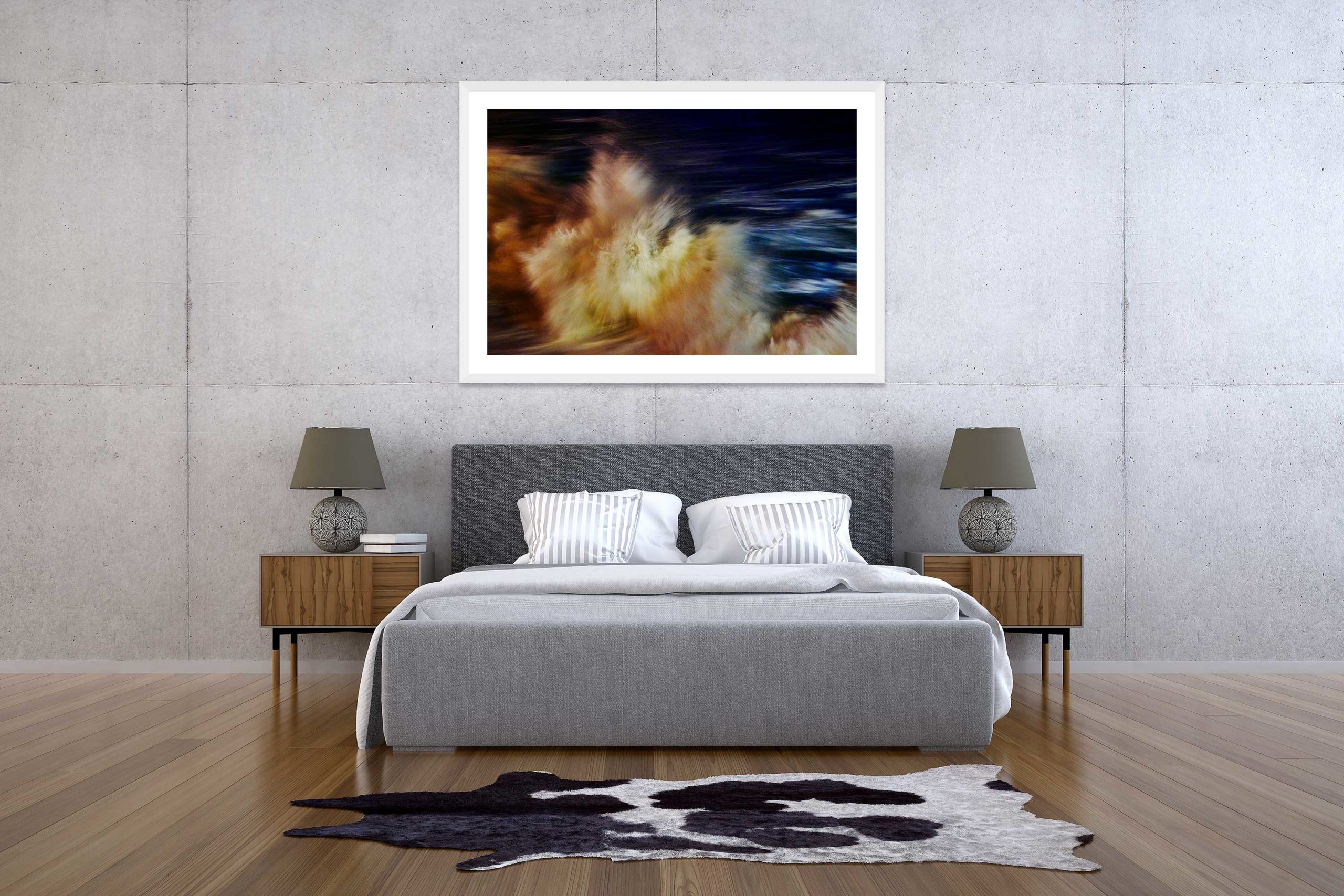 The Storm 6 - White Frame - The Storm Collection - Fine Art Photography by Toby Dixon