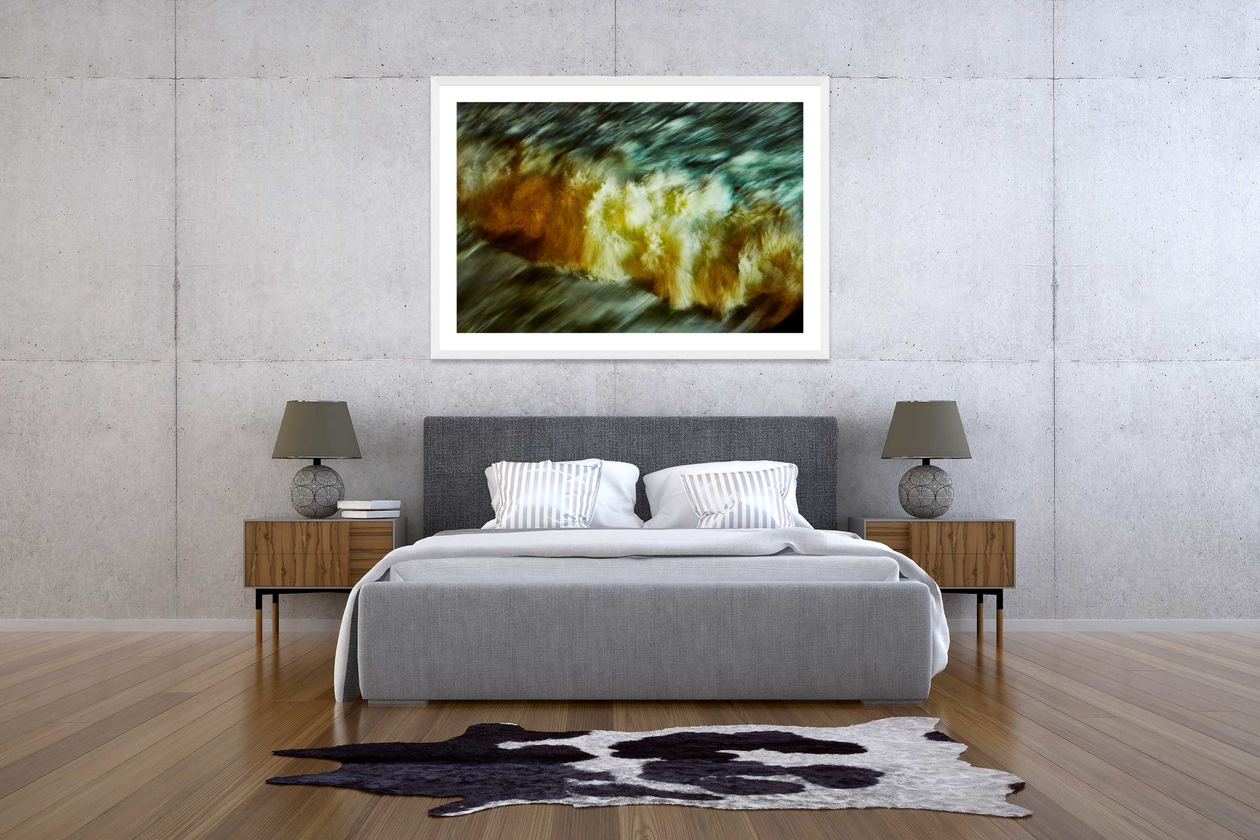 The Storm 7 - White Frame - The Storm Collection - Fine Art Photography by Toby Dixon