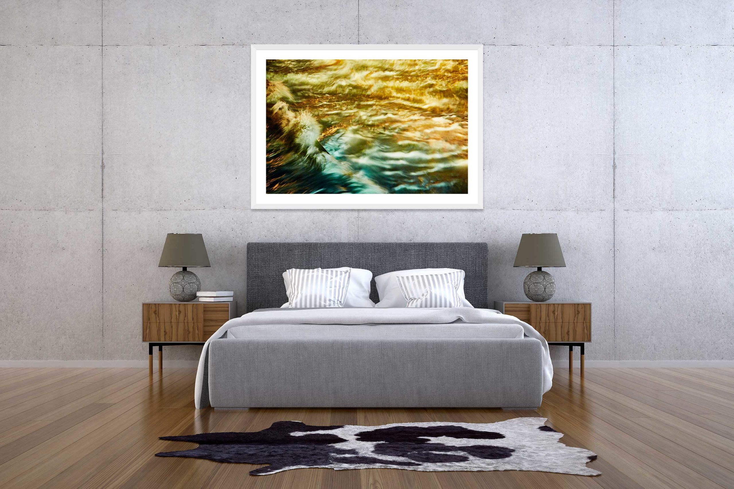 The Storm 9 - White Frame - The Storm Collection - Fine Art Photography by Toby Dixon