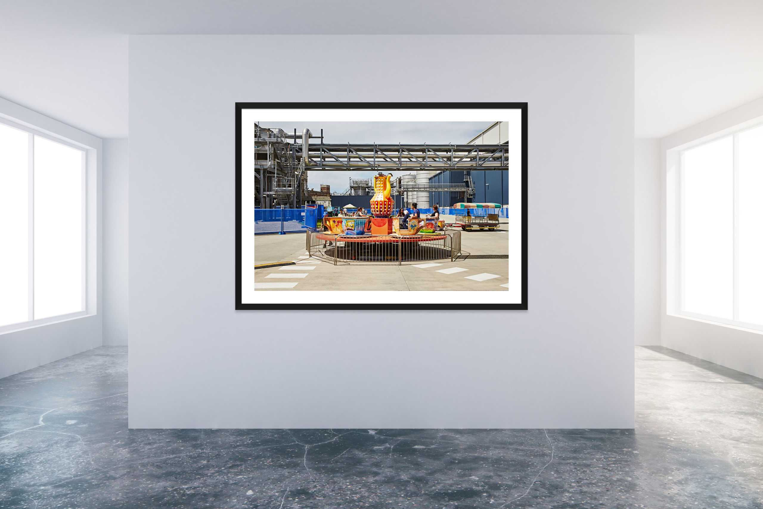 Family Day At The Factory 1 - Black Frame - Carnival Collection - Fine Art Photography by Toby Dixon