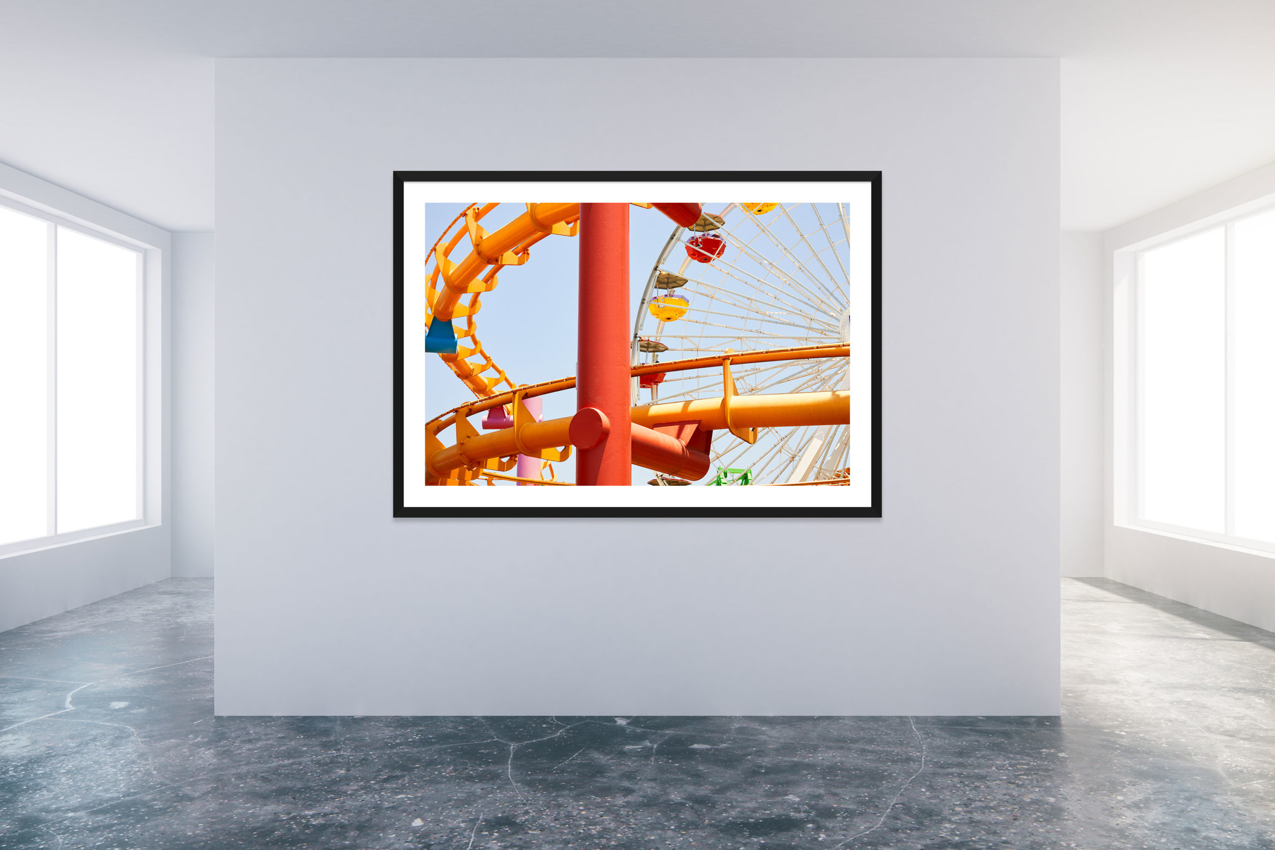 Santa Monica Pier 1 - Black Frame - Carnival Collection - Fine Art Photography by Toby Dixon