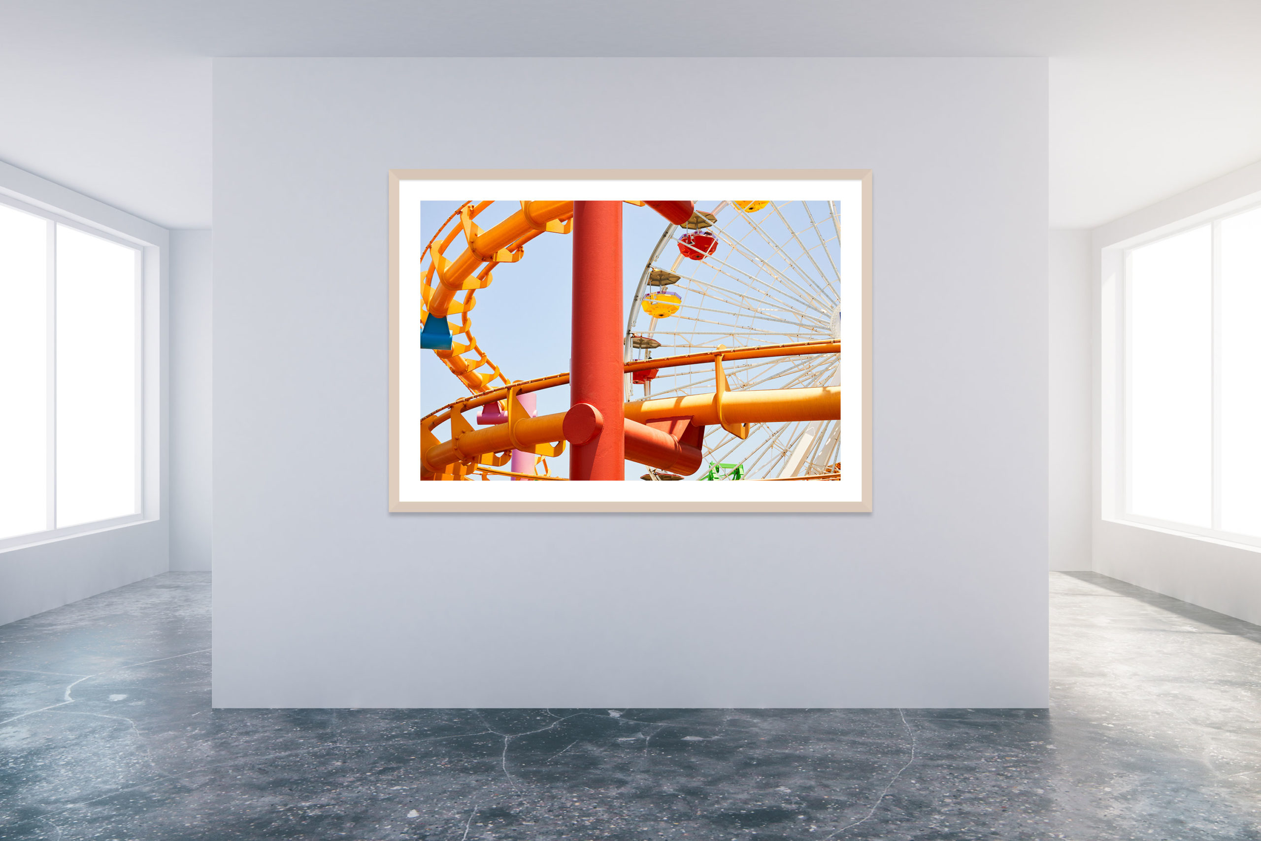 Santa Monica Pier 1 - Timber Frame - Carnival Collection - Fine Art Photography by Toby Dixon