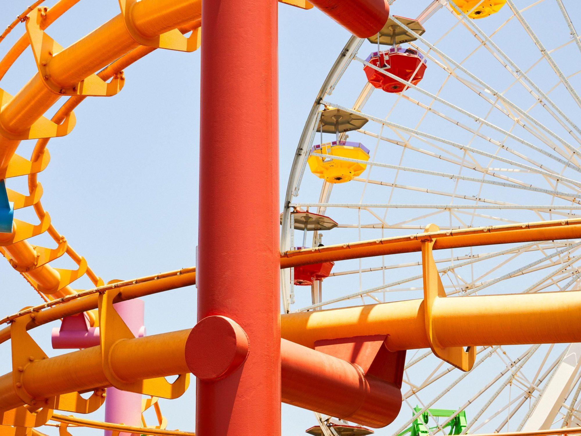 Santa Monica Pier 1 - Carnival Collection - Fine Art Photography by Toby Dixon