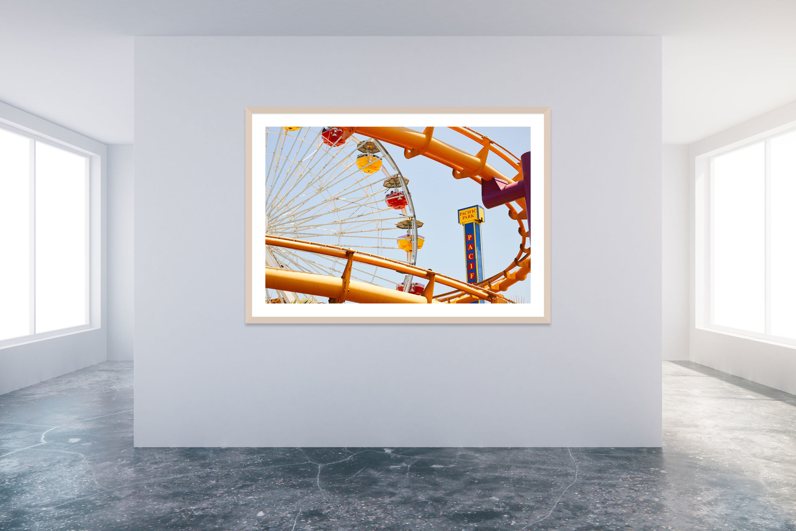 Santa Monica Pier 2 - Timber Frame - Carnival Collection - Fine Art Photography by Toby Dixon