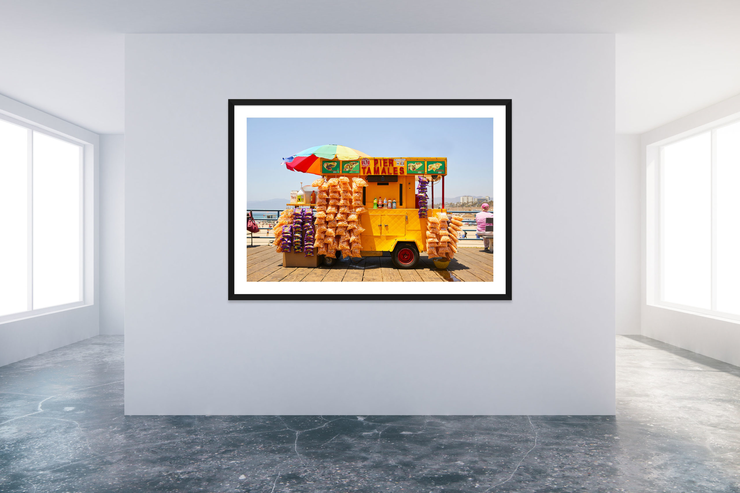 Santa Monica Pier 3 - Black Frame - Carnival Collection - Fine Art Photography by Toby Dixon
