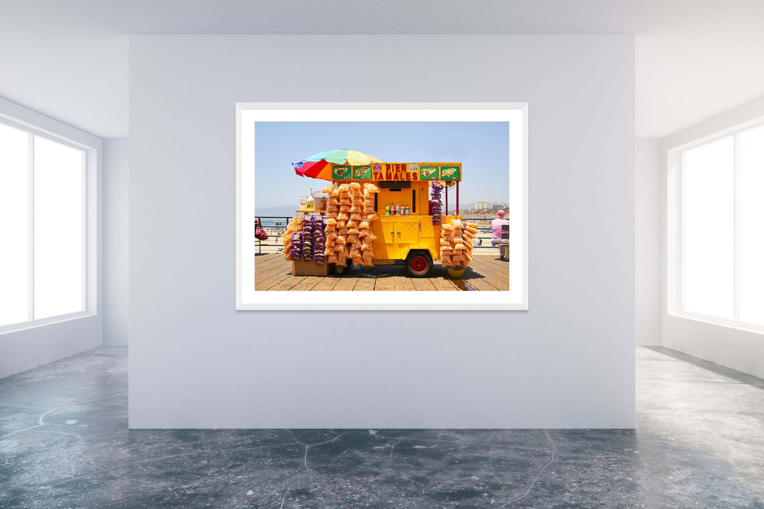 Santa Monica Pier 3 - White Frame - Carnival Collection - Fine Art Photography by Toby Dixon