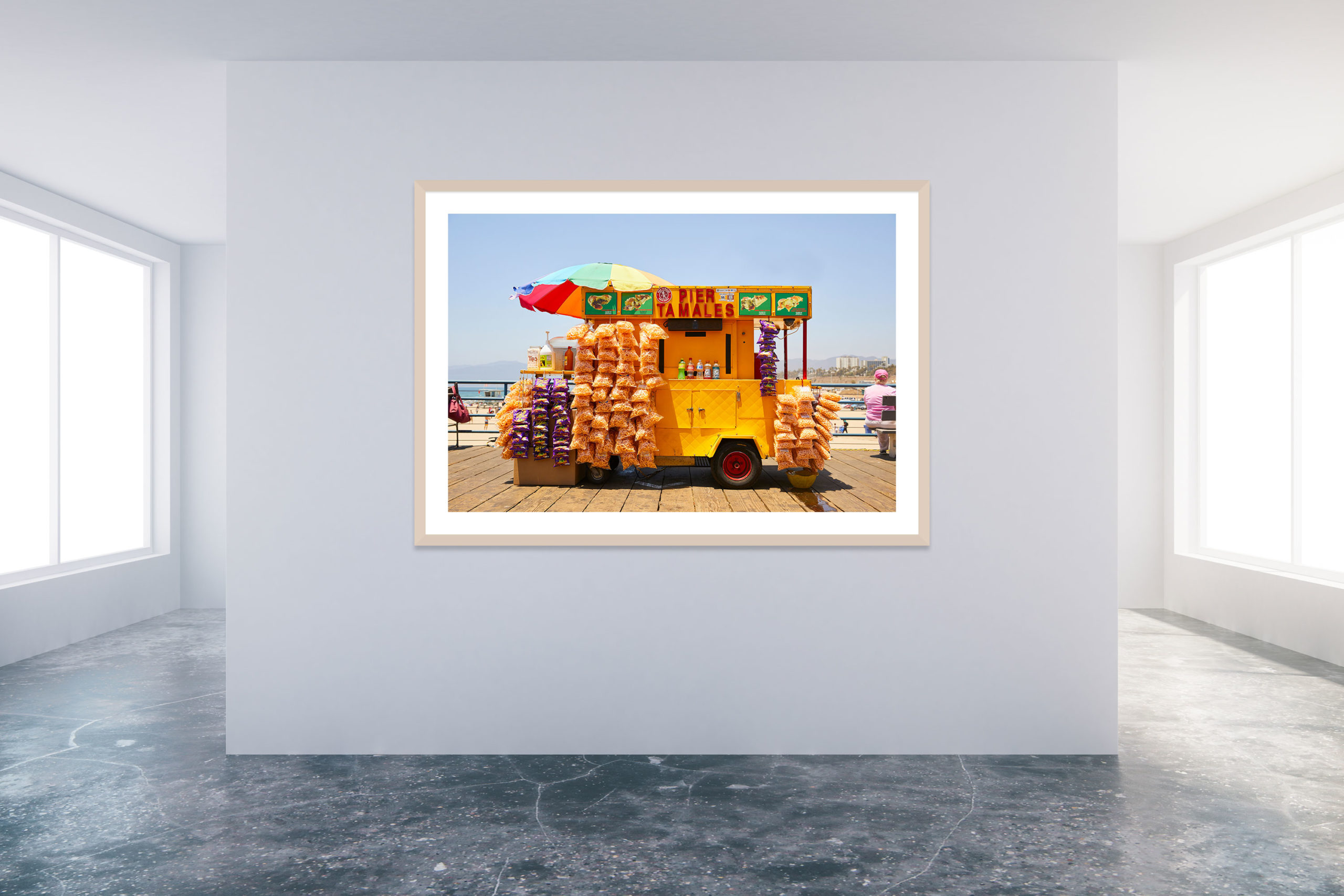 Santa Monica Pier 3 - Timber Frame - Carnival Collection - Fine Art Photography by Toby Dixon