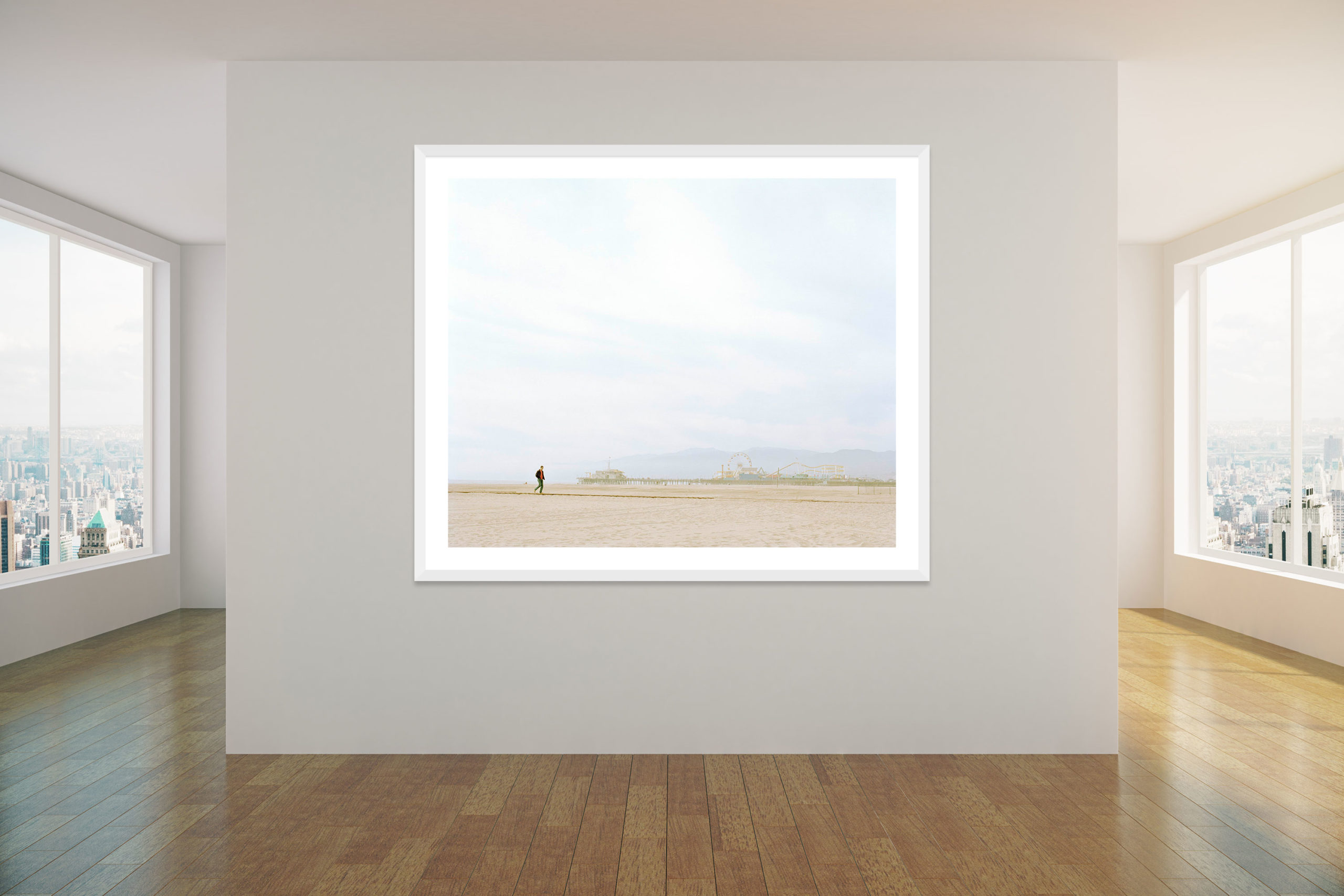 Winter Walk - White Frame - Concrete Collection - Fine Art Photography by Toby Dixon