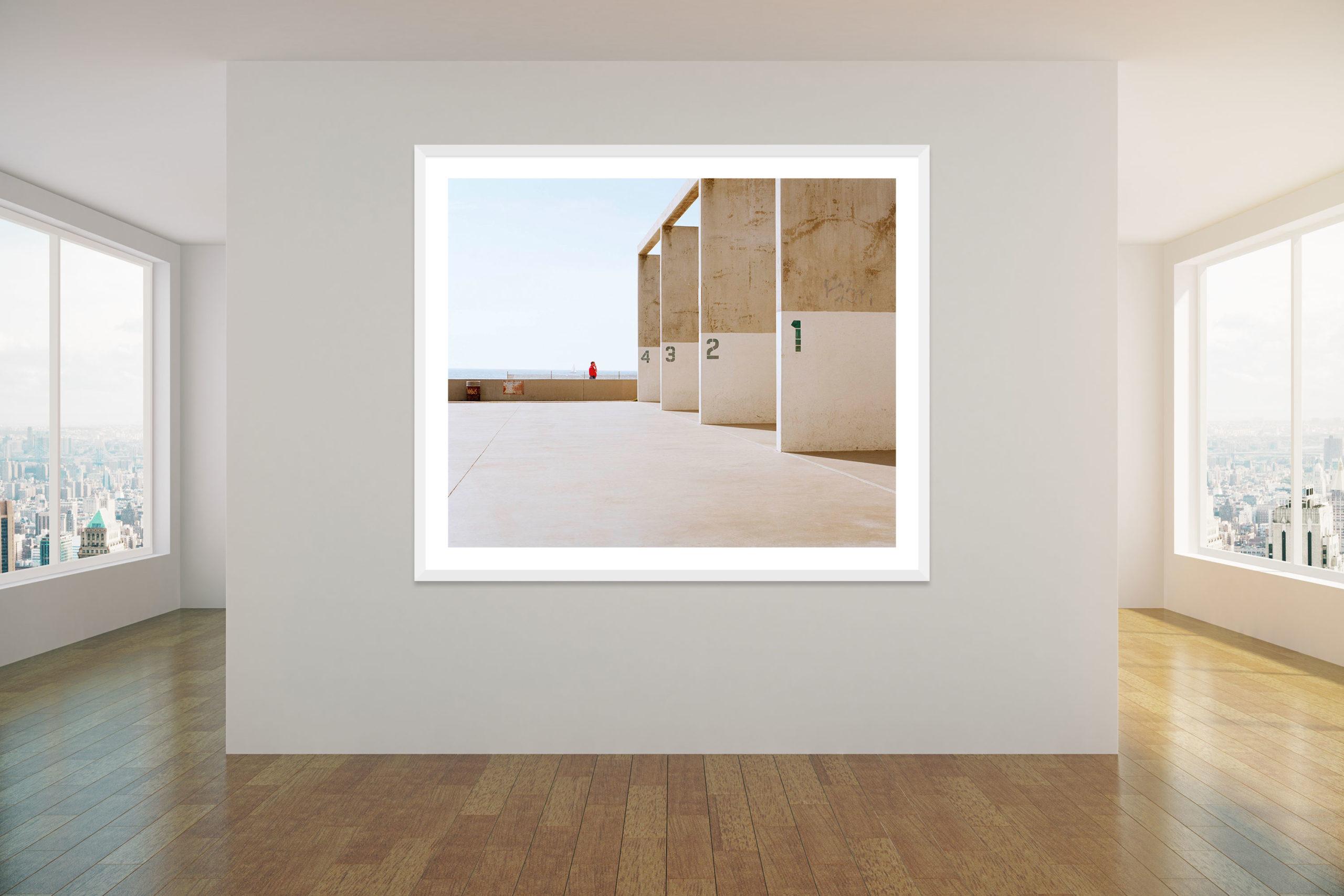 Venice Beach Squash Courts - White Frame - Concrete Collection - Fine Art Photography by Toby Dixon