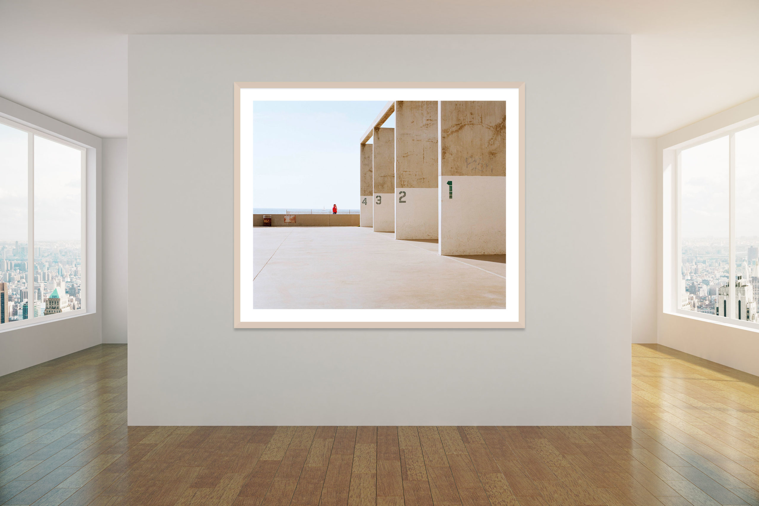 Venice Beach Squash Courts - Timber Frame - Concrete Collection - Fine Art Photography by Toby Dixon