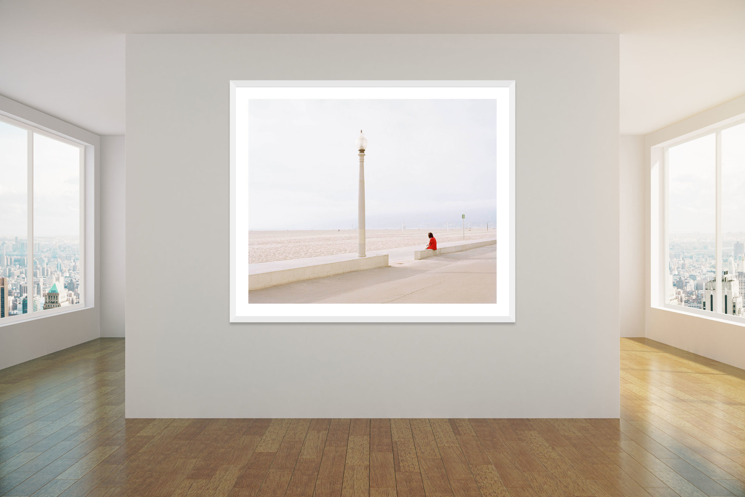 Tourist - White Frame - Concrete Collection - Fine Art Photography by Toby Dixon