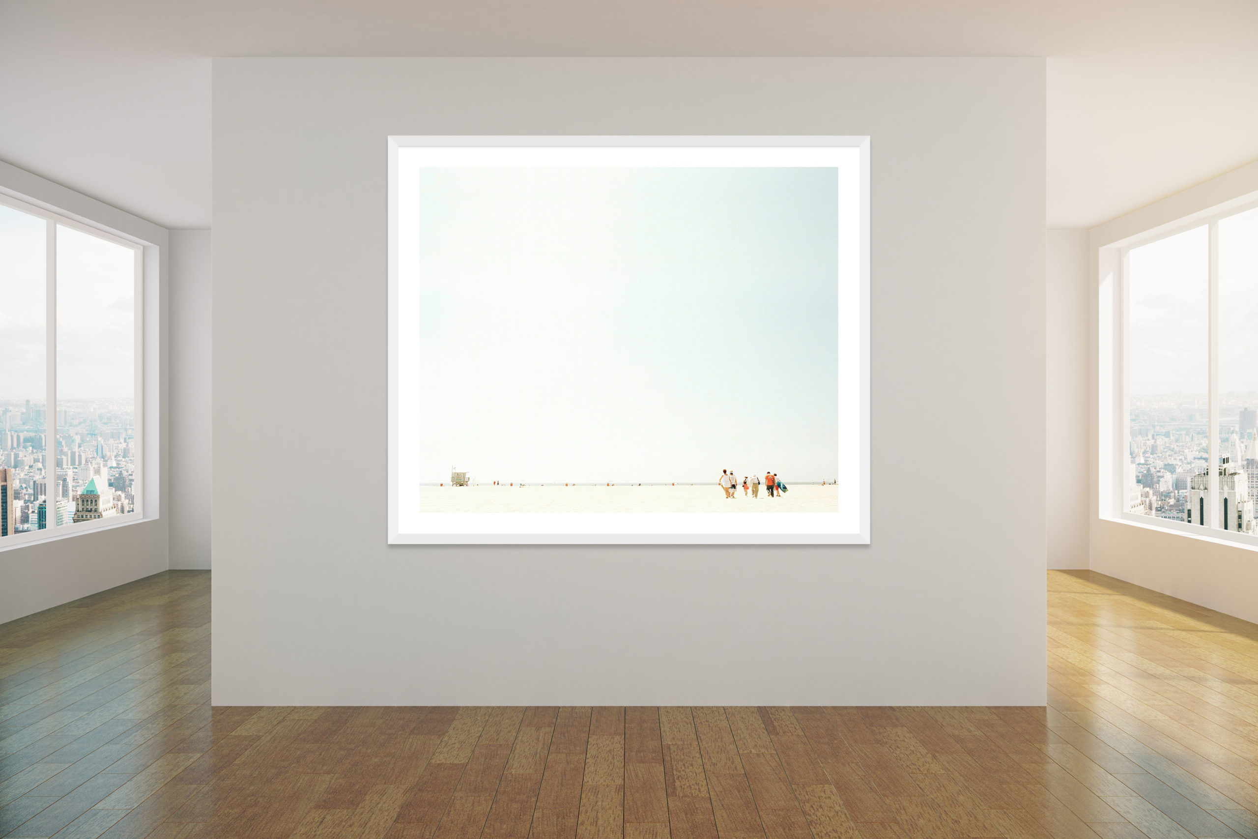 Venice Beach Walkers - White Frame - Concrete Collection - Fine Art Photography by Toby Dixon