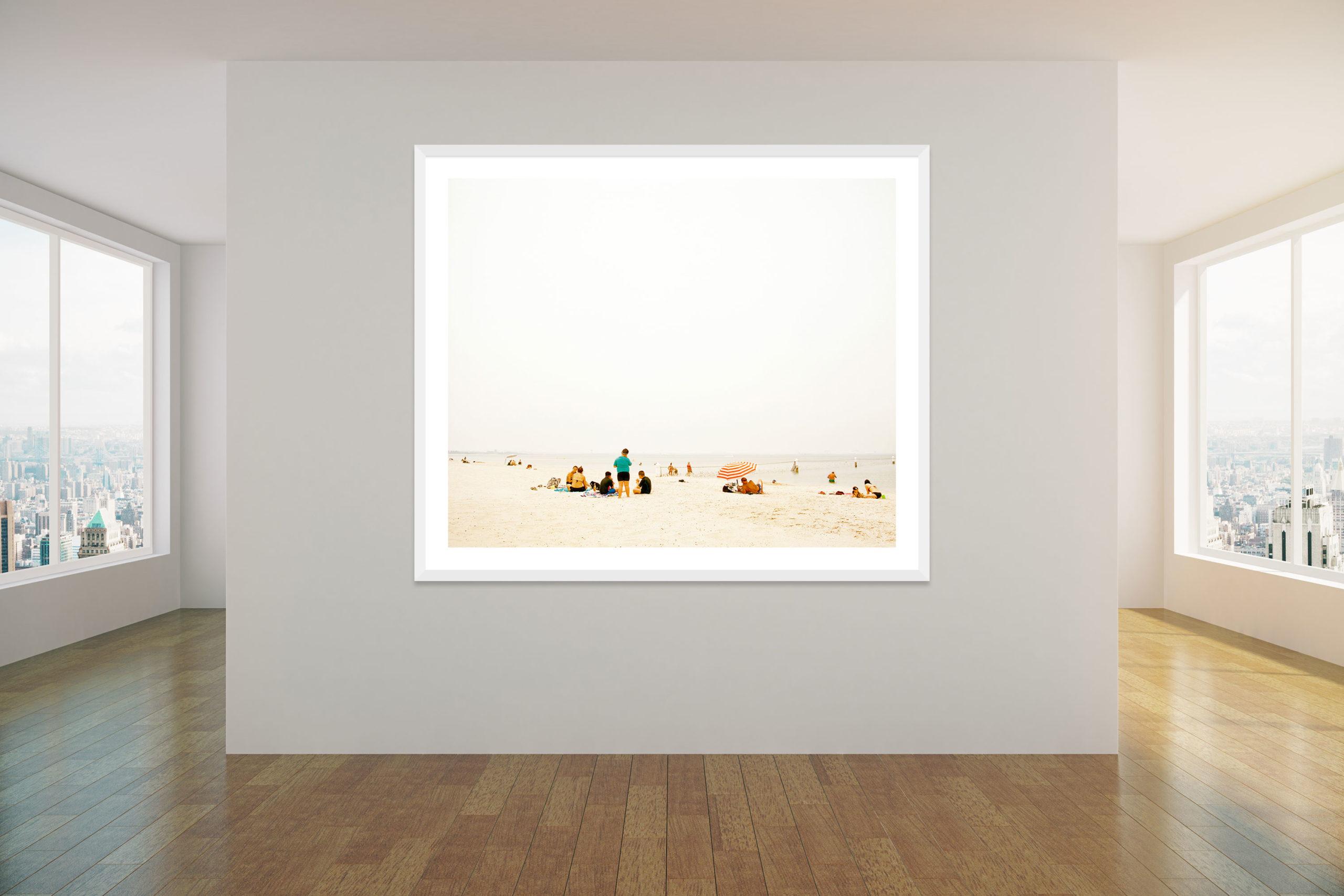 Bushfire Smoke - White Frame - Concrete Collection - Fine Art Photography by Toby Dixon