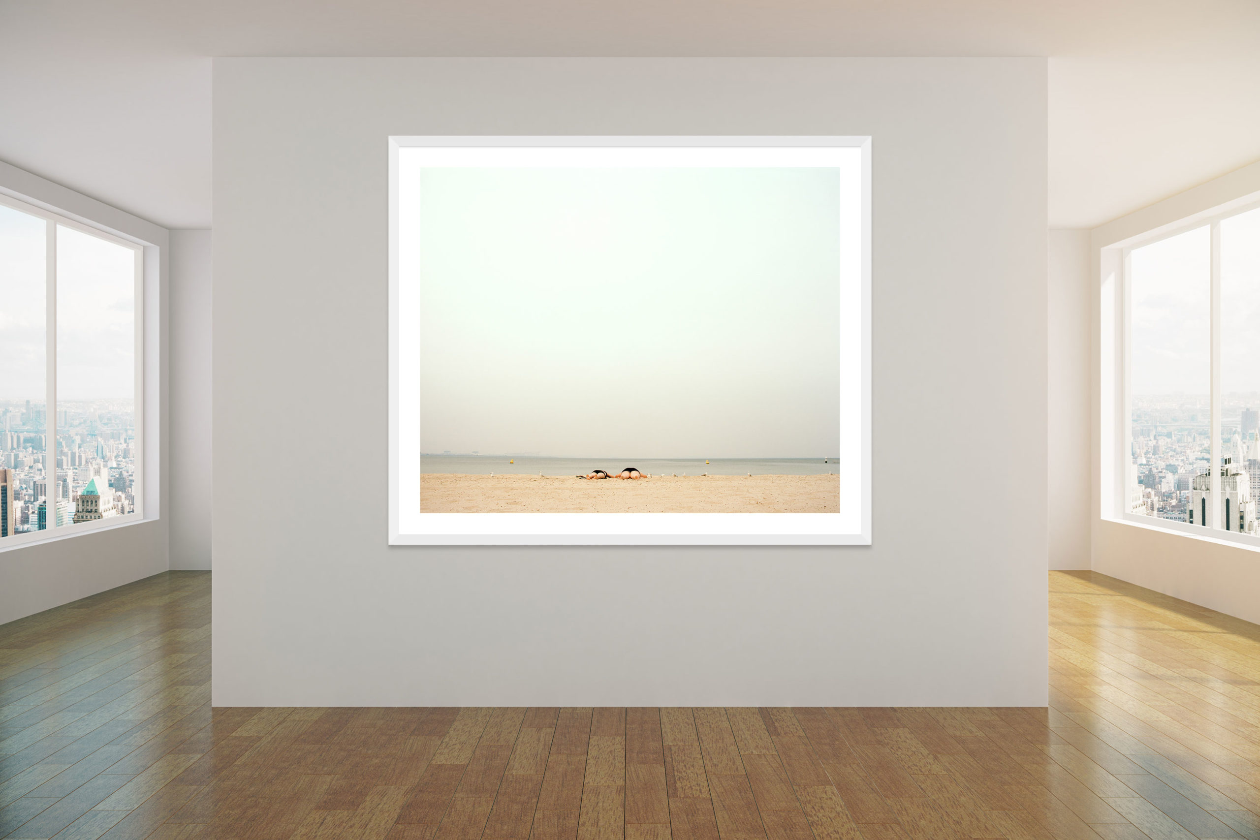 Legs - White Frame - Concrete Collection - Fine Art Photography by Toby Dixon