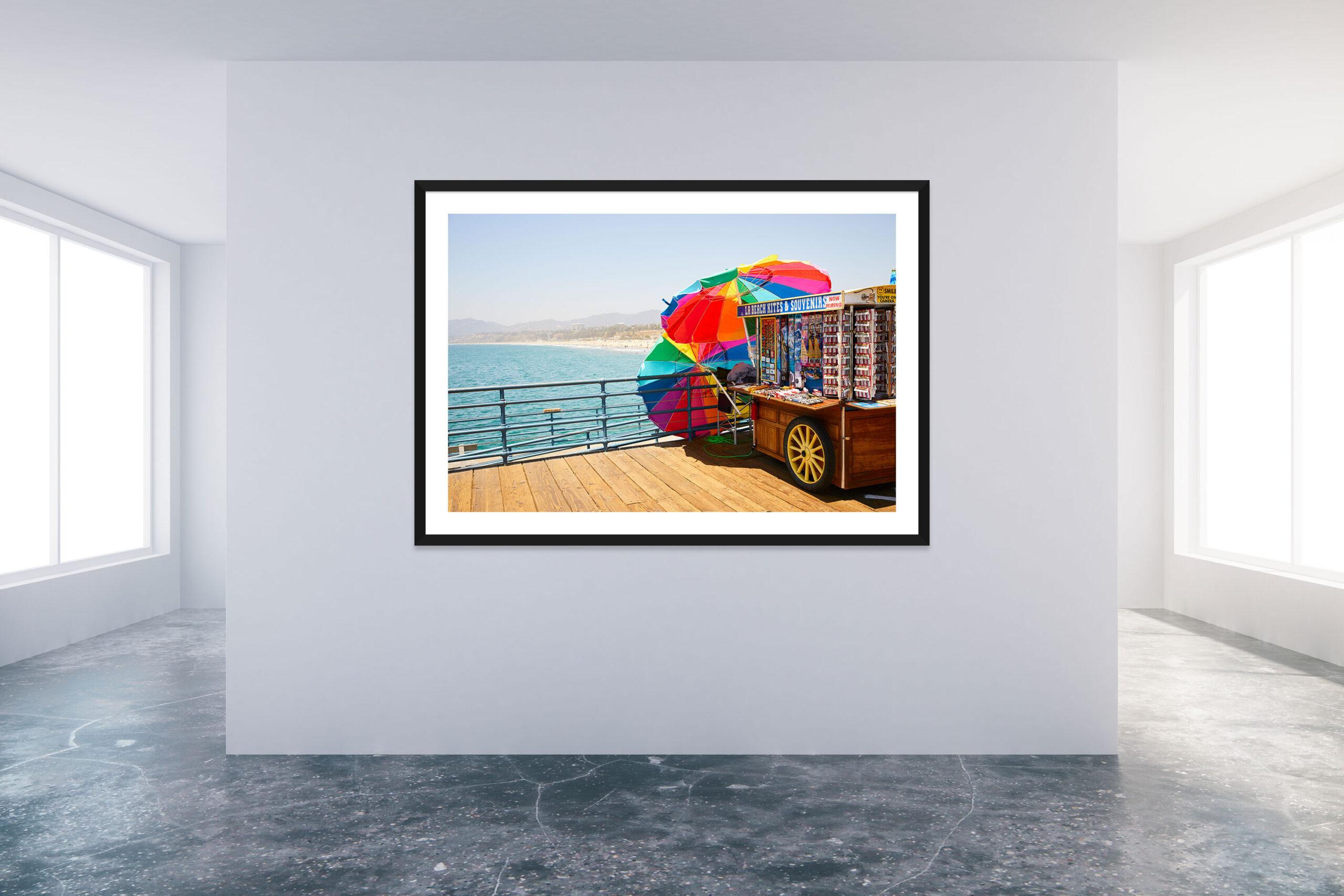 Santa Monica Pier 4 - Black Frame - Carnival Collection - Fine Art Photography by Toby Dixon